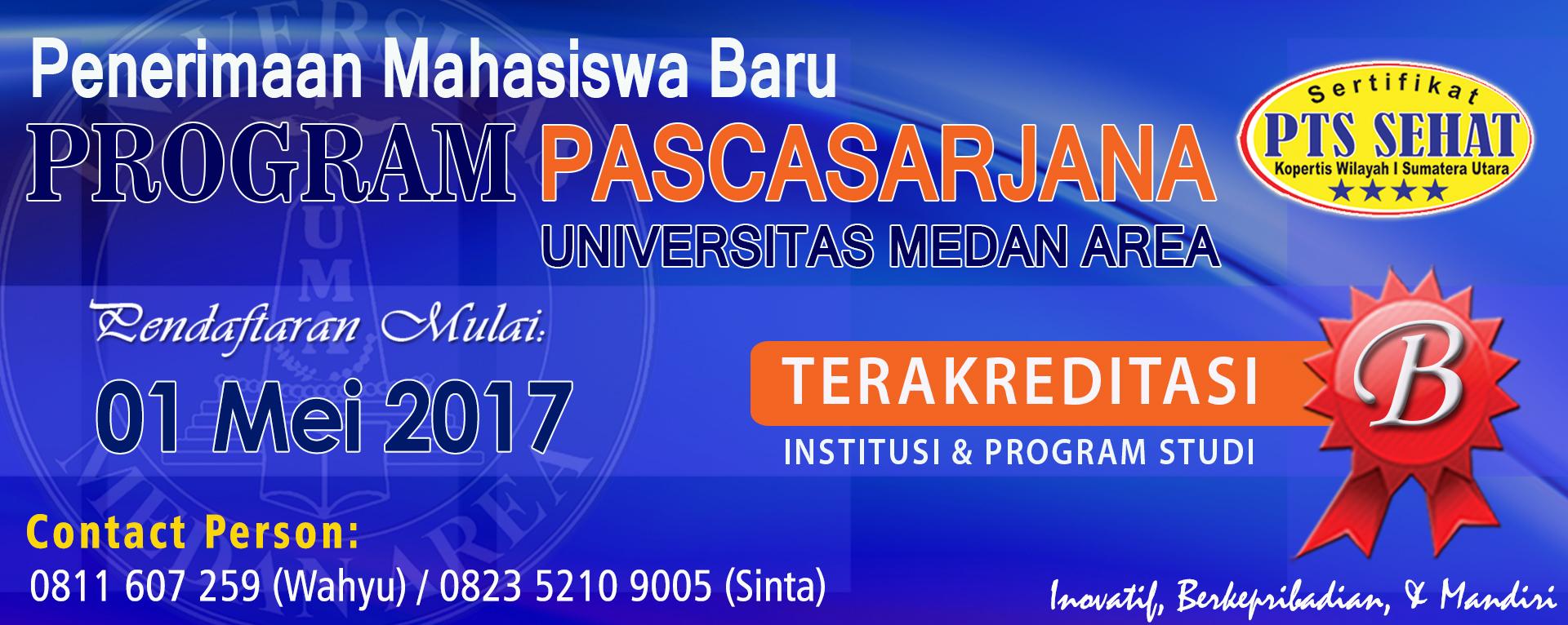 PMB Pascasarjana TA 2017/2018