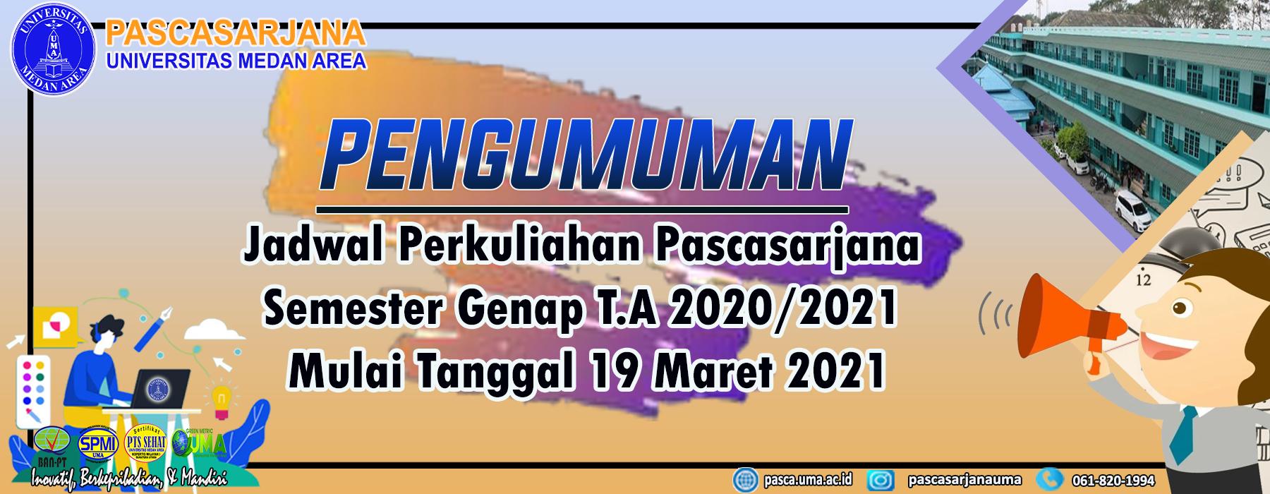 MASUK SEMESTER GENAP 2020/2021